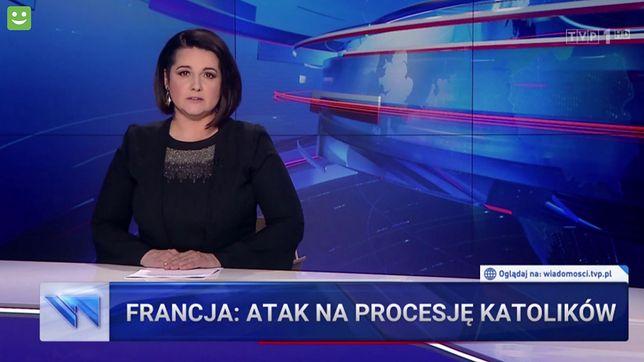 """Prowadząca główne wydanie """"Wiadomości"""" Edyta Lewandowska"""
