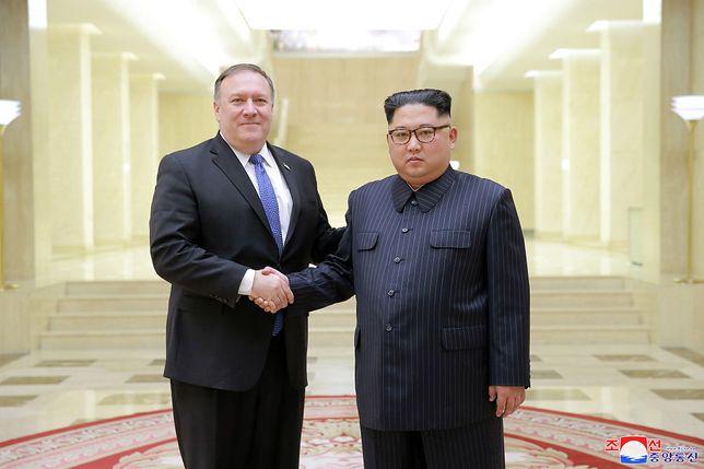 Mike Pompeo i Kim Dzong Un w Pjongjangu