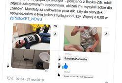"""Busko-Zdrój. Skandal ze zdjęciami z komendy. """"Poniżali zatrzymanych"""""""