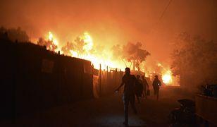 Grecja. Na wyspie Lesbos w obozie dla uchodźców doszło do pożaru