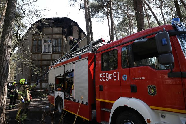 Otwock. Kolejny otwocki świdermajer w ogniu. 12 mieszkańców ewakuowanych