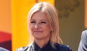 Anna Pieczarka w trakcie symbolicznego wbicia pierwszej łopaty na budowie obwodnicy Koszyc 17 lipca 2019 roku