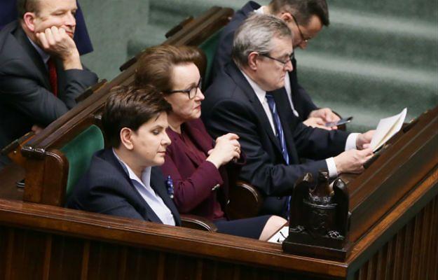 Beata Szydło, Anna Zalewska, Konstanty Radziwiłł, Piotr Gliński