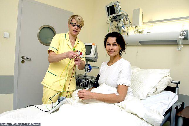 Anna Popek w szpitalu