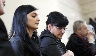 Najbliżsi zamordowanej dziewczyny podczas odczytywania wyroku