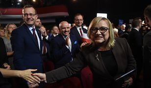 Warszawa. Beata Kempa podczas konwencji Solidarnej Polski, 8 lutego br.