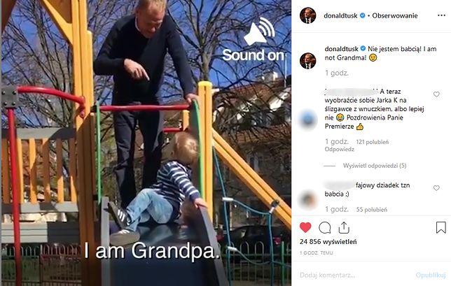 Donald Tusk pochwalił się wnukiem na Instagramie