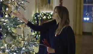 Melania Trump przystroiła Biały Dom na święta.