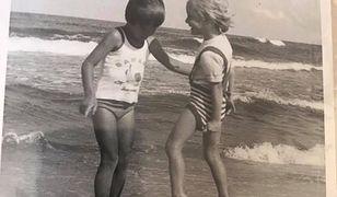 Marcin i Patrycja w Jastarni, 1979 r.