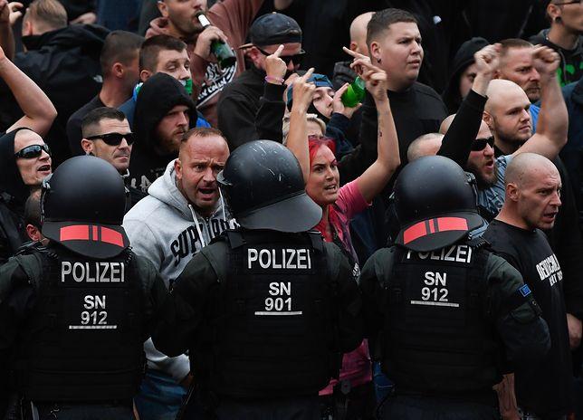Zamieszki w niemieckim Chemnitz w Saksonii