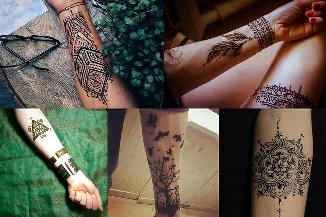 Wzory tatuaży henną na ręce