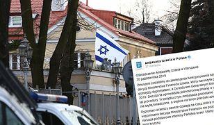 Ambasada Izraela zamknięta. Jest oświadczenie