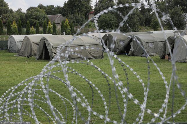 Usnarz Górny. Na granicy polsko-białoruskiej przebywają 32 osoby z Afganistanu, w tym kobiety, dzieci i wymagający opieki medycznej