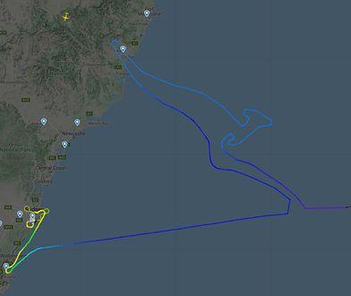 """Boeing 747 narysował kangura na niebie i leci na """"cmentarzysko"""". To ostatni lot Jumbo Jeta Qantas"""