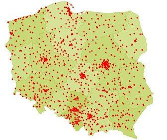 Mapa pokazuje statystyki dobowe