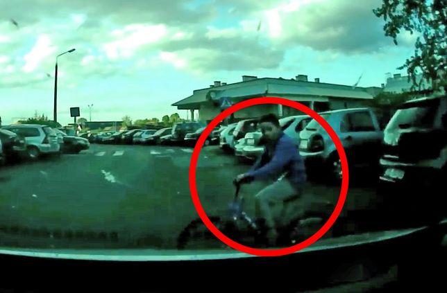 Dziecko na rowerze wyjechało wprost pod samochód. Kierowca nie miał czasu na reakcję