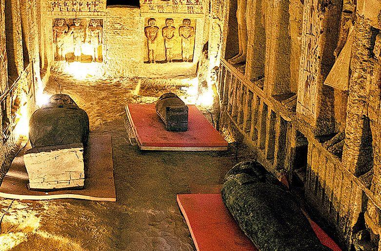 Sarkofagi odkryte w 2020 r.