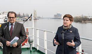 Marek Gróbarczyk i Beata Szydło