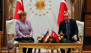 Kanclerz Niemiec Angela Merkel i prezydent Turcji Recep Erdogan