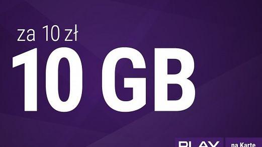 Play: 10 GB za 10 zł do końca roku