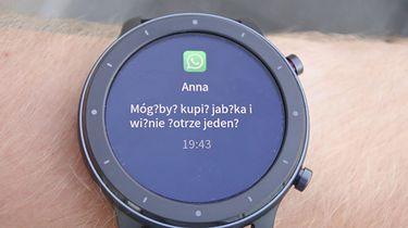 Amazfit GTR / GTS  — polskie znaki w powiadomieniach