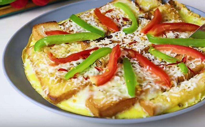 Nietypowa pizza z patelni. Tajemniczy składnik zamiast ciasta