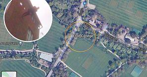 Wirtualnie spacerował po mapach Google. Nagle spojrzał w górę. Oniemiał