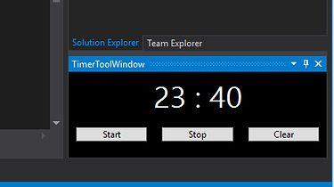 Pierwszy dodatek do Visual Studio — timer w okienku IDE