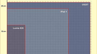 Toshiba U925T – rozdwojenie jaźni  - cz. 1 czyli tablet - Wielkość: Lumia 820 vs iPad vs U925T