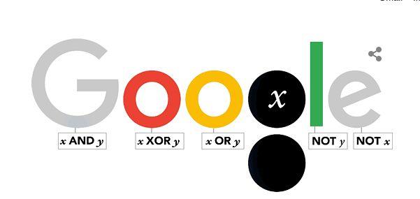 Google Doodle z okazji 200. rocznicy urodzin George'a Boole'a