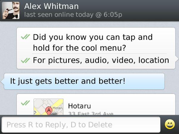 WhatsApp na BlackBerry
