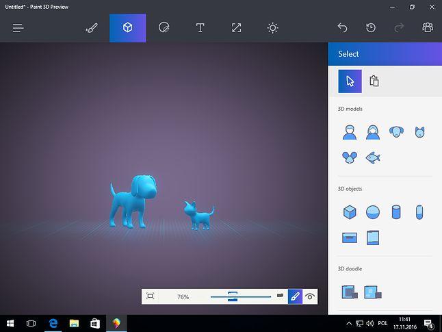 macOS nie ma szans: tylko w Windowsie 10 dostajemy prymitywy pieska i kotka!