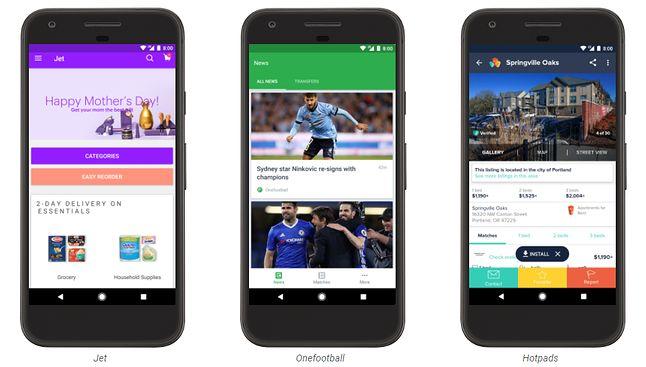 Przykładowe aplikacje już teraz wykorzystujące koncepcję Instant Apps