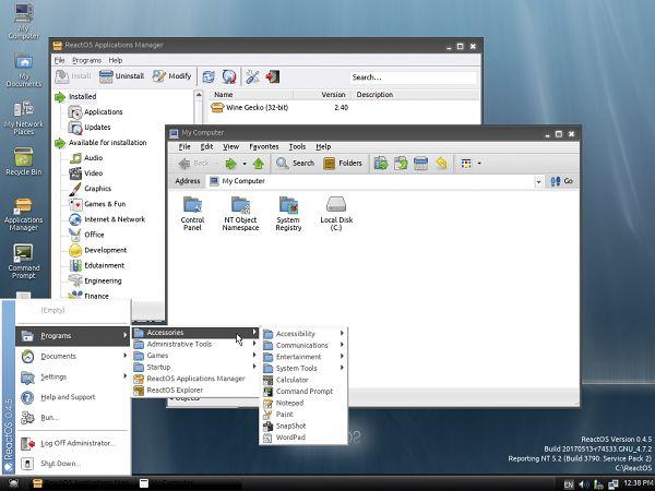Pulpit ReactOS-a 0.4.5