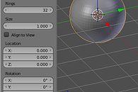 Grafika 3D: Blender, cz. VIII – rzeźbienie - Wstawienie kuli (UV Sphere) i ustawienie jej parametrów w Tweak Panelu