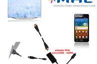 MHL - smartfon na dużym ekranie i problemy ze standardami (Samsung) - podłączenie za pomocą adaptera MHL (standardowe złącze 5 pinów)