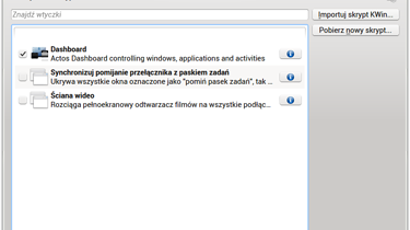 Actos Dashboard - namiastka GNOME Shell w KDE