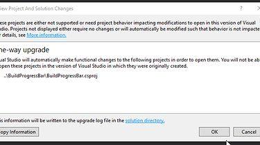 Migracja starej wtyczki do nowej wersji Visual Studio 2017