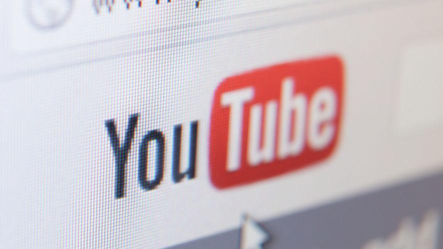 Zbliżenie na logo YouTube z depositphotos