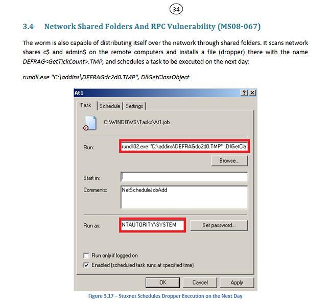 Jedna z podatności wykorzystywanych przez Stuxnet (fot. Eset)