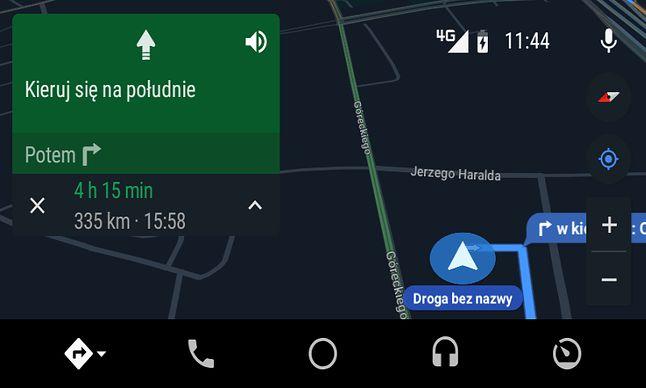 Tryb nocny w Mapach Google.