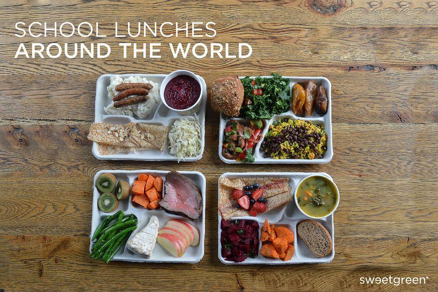 Co dzieci w różnych krajach jedzą na stołówce?