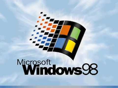 Logo Windows 98 - systemu, z którym po raz pierwszy zintegrowano IE w sposób nierozerwalny.