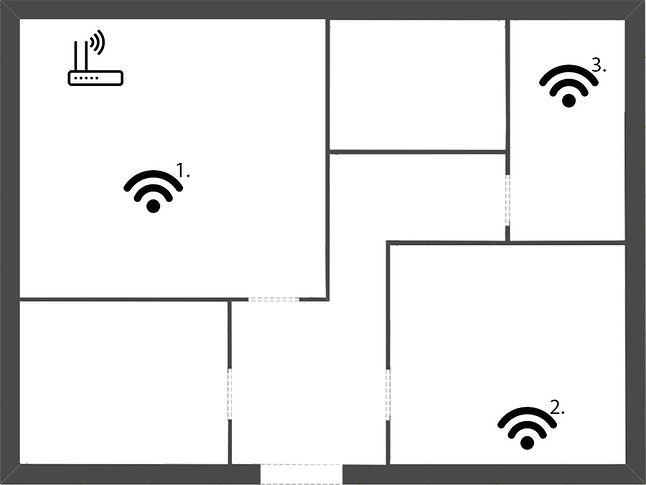 Plan mieszkania; ~57 m2