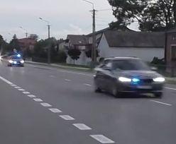"""Kolumna SOP nagrana. """"Szaleńczy"""" przejazd prezydenta Dudy. """"Szarża spychaczami"""""""
