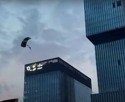 Wdarli się na najwyższy budynek w Katowicach. W sieci pojawiło się nagranie