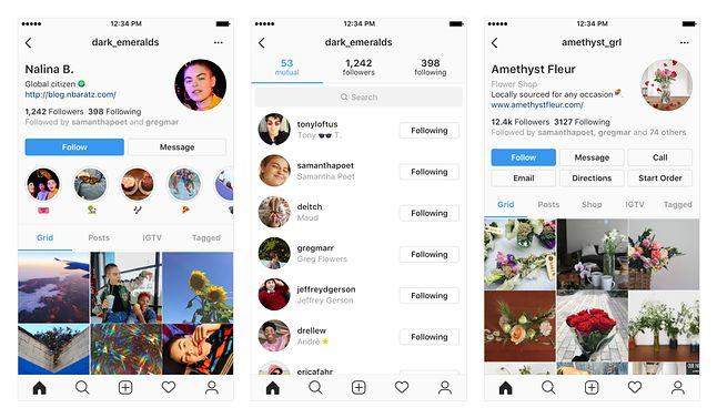 Nowy wygląd Instagrama.
