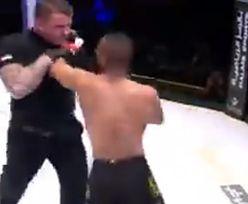 Szokujące sceny na gali MMA. Zawodnik rzucił się na sędziego