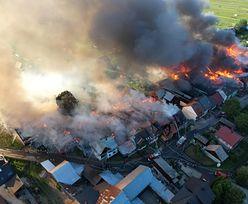 """Potężny pożar w Małopolsce. """"Sytuacja nie jest opanowana"""""""