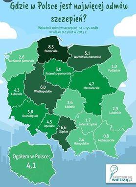 Coraz więcej odmów szczepień w Polsce. Zobacz, gdzie jest ich najwięcej
